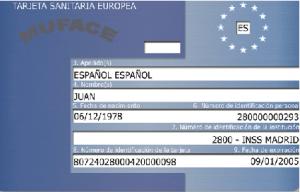 Tarjeta sanitaria europea de MUFACE (no valida)