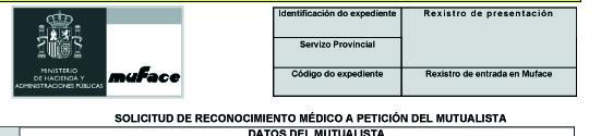 MUFACE Solicitud de reconocimiento médico IT