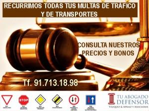 recursos multas de trafico y transportes