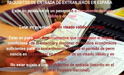 requisitos entrada extranjeros en españa