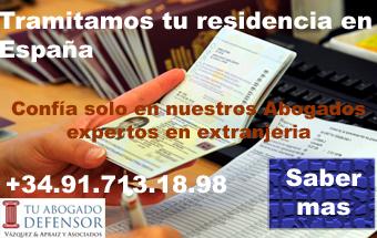 Tramites residencia extranjeros en españa