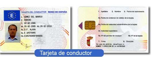 tarjeta de conductor