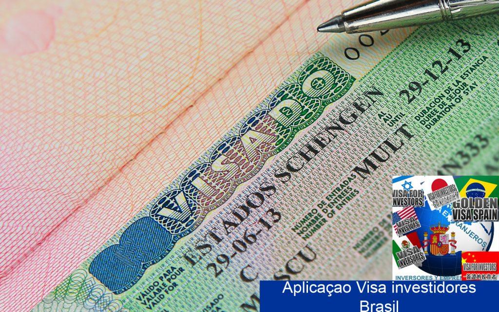 Aplicaçao visa de residencia investidores brasileros- Golden visa