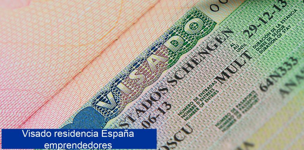 Visado de residencia en España emprendedores