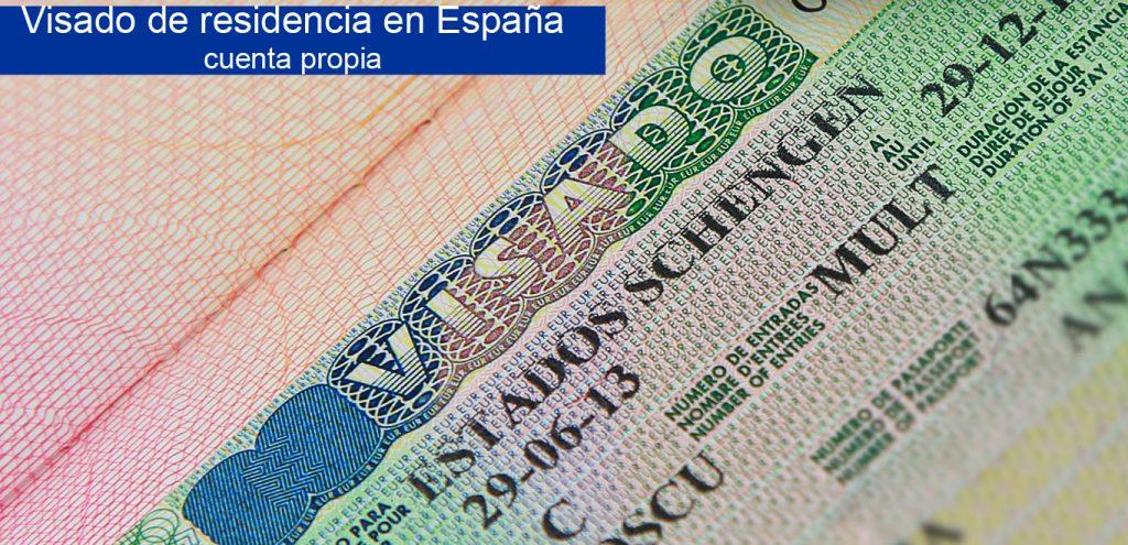 visa residencia España cuenta propia
