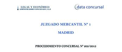 Plan liquidacion Banco Madrid