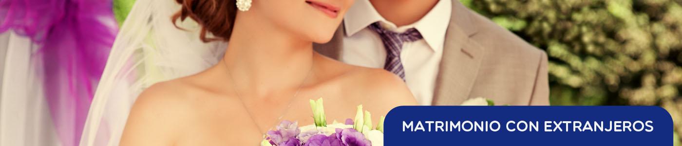 matrimonio con extranjeros