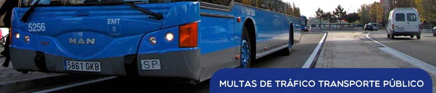 multas de trafico en transporte publico