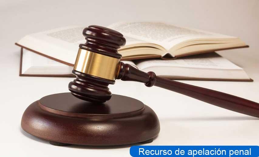 recurso apelación penal