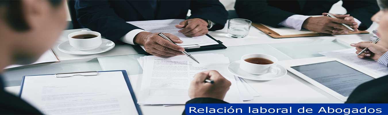 relación laboral abogados