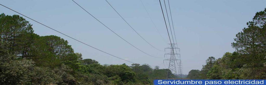 servidumbre de paso de energía electrica