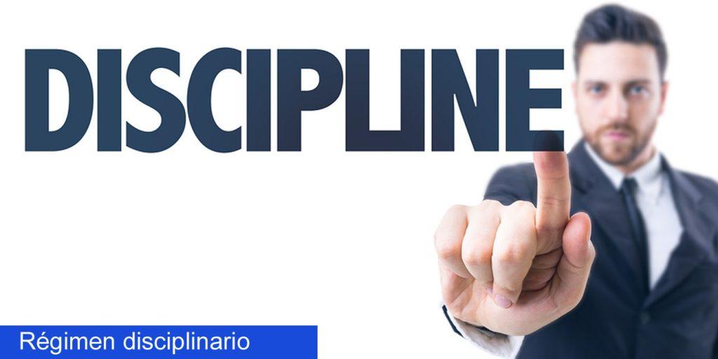 Regimen disciplinario funcionarios