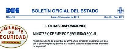 Convenio Colectivo Seguridad Privada 2015