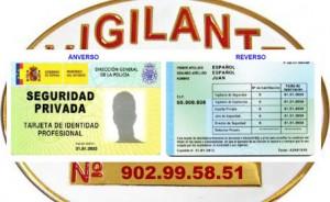 Tarjeta Identidad Profesional Seguridad Privada