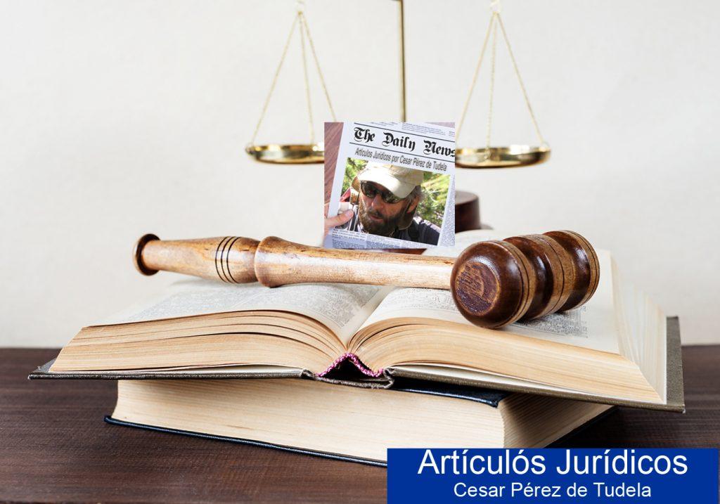 Articulos juridico Cesar Perez de Tudela