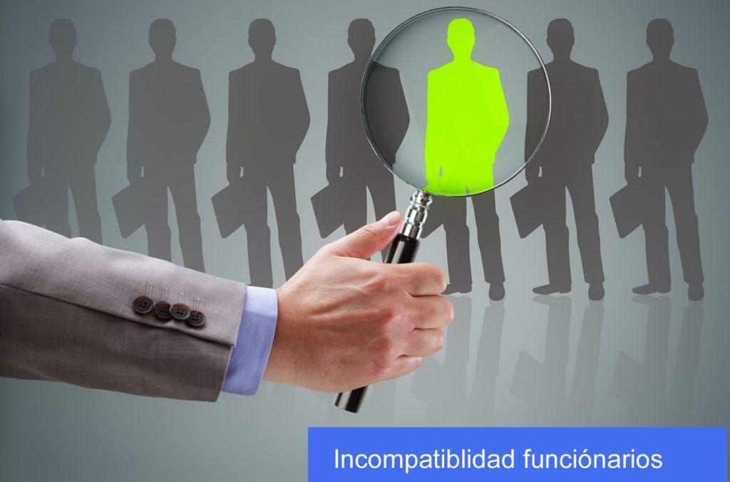 Incompatibilidad funcionarios publicos