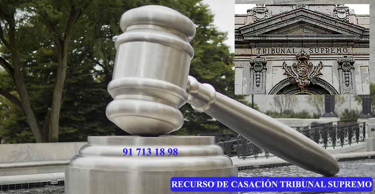 recurso casación tribunal supremo