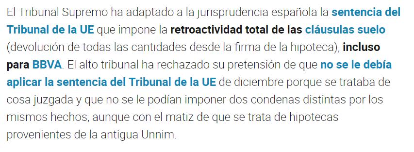 Noticias clausulas suelo nuestro abogado te informa for Clausula suelo tribunal supremo hoy