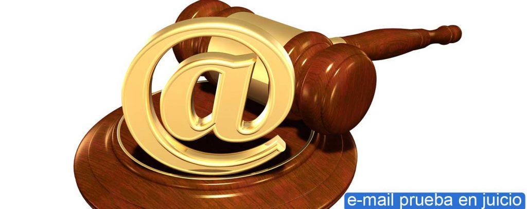 email prueba en juicio