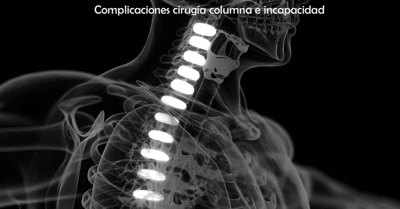 cirugia columna e incapacidad permanente