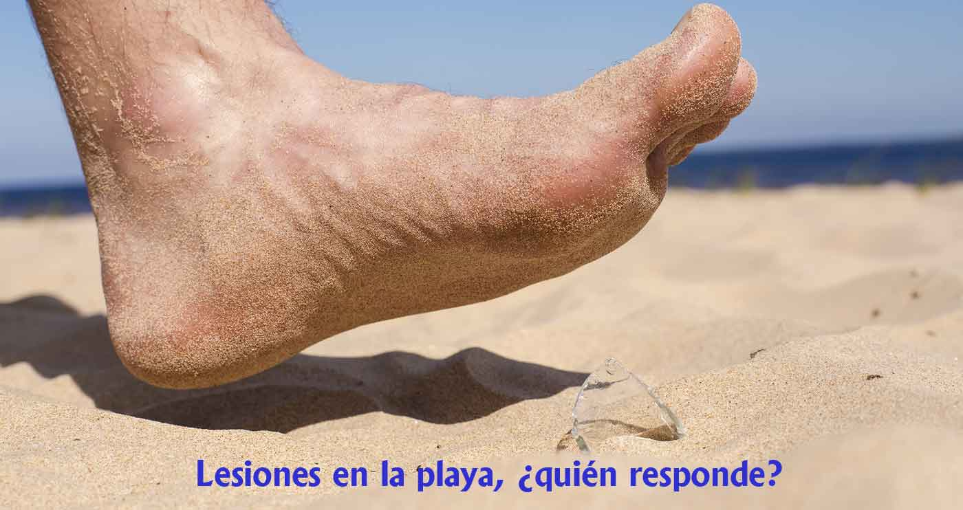 lesiones en playa quien responde