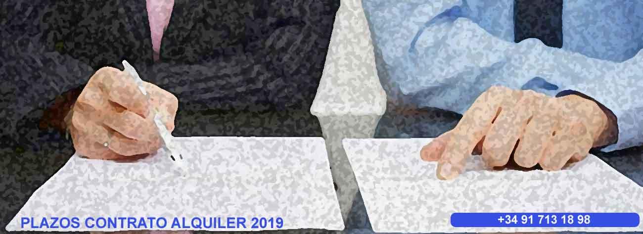 plazos contrato alquiler vivienda 2019