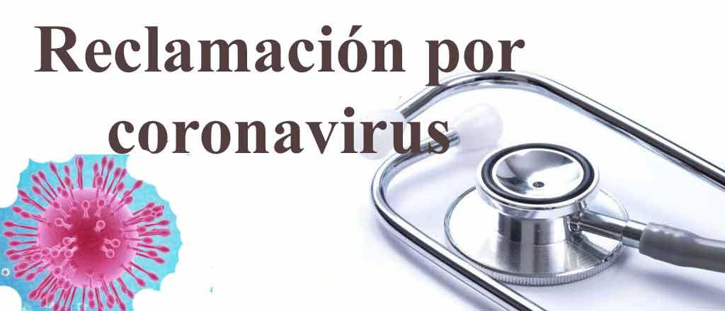 reclamación afectados por coronavirus