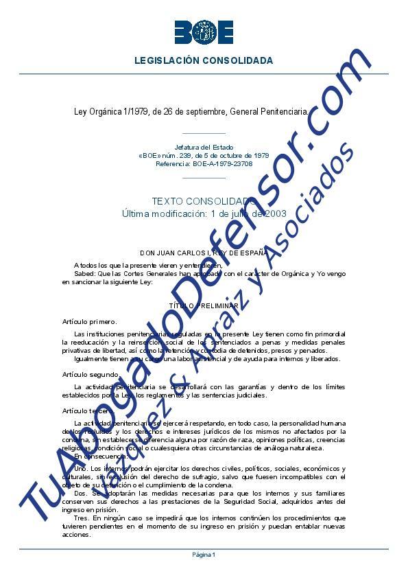 ley general penitenciaria tuabogadodefensor