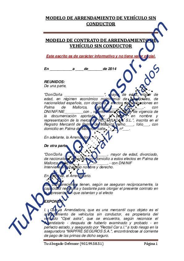 Modelo Contrato Arrendamiento Vivienda 2015 Download Pdf